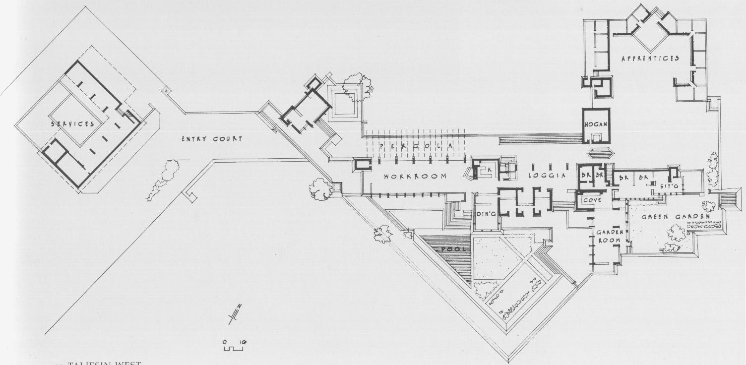Google floor plans and frank lloyd wright on pinterest Frank lloyd wright house floor plans